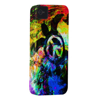 Psychedelic Peace Turtle iPhone Case iPhone 4 Case-Mate Cases