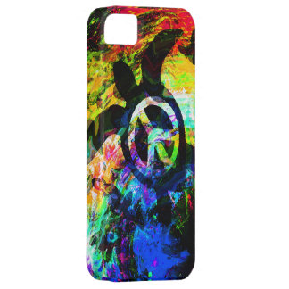 Psychedelic Peace Turtle iPhone Case iPhone 5 Cases
