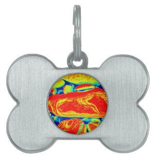 Psychedelic Pebbles Pet Tag