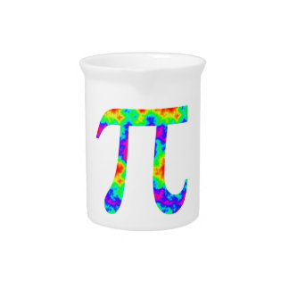 Psychedelic Pi Sign Beverage Pitchers