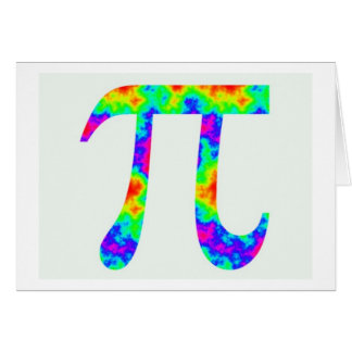 Psychedelic Pi Sign Card