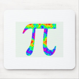 Psychedelic Pi Sign Mouse Pad