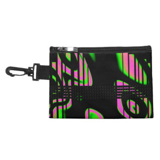 Psychedelic Pink Abstract Accessories Bag