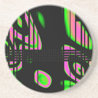 Psychedelic Pink Abstract Coaster