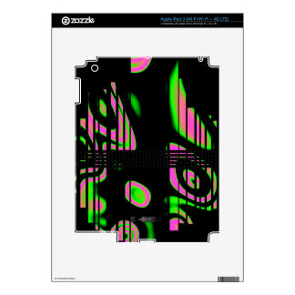 Psychedelic Pink Abstract iPad 3 Decal
