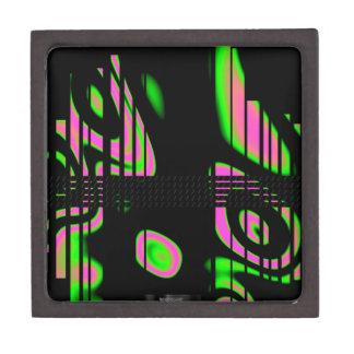 Psychedelic Pink Abstract Keepsake Box