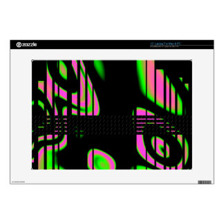 Psychedelic Pink Abstract Laptop Decal