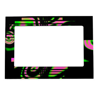 Psychedelic Pink Abstract Magnetic Picture Frame