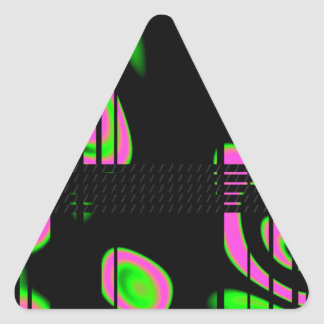 Psychedelic Pink Abstract Triangle Sticker