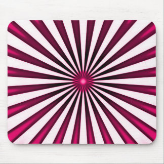 Psychedelic Pink Pinwheel Stripes Pattern Mouse Pad