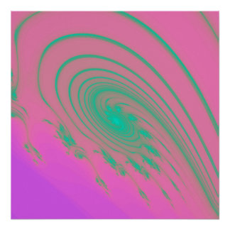 Psychedelic Pink Swirl Poster