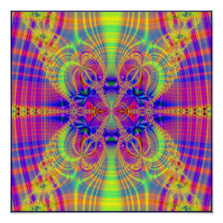 psychedelic plaid druid poster