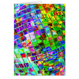 Psychedelic Planet Disco Ball Card