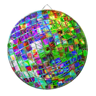 Psychedelic Planet Disco Ball Dartboard