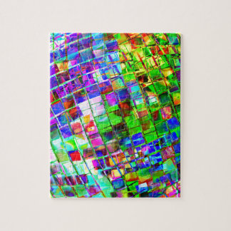 Psychedelic Planet Disco Ball Jigsaw Puzzle