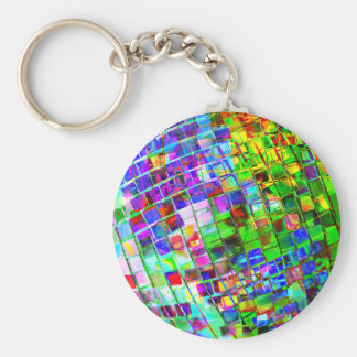 Psychedelic Planet Disco Ball Keychain