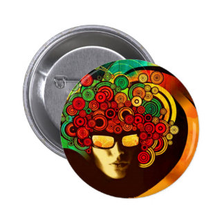 psychedelic pop art button