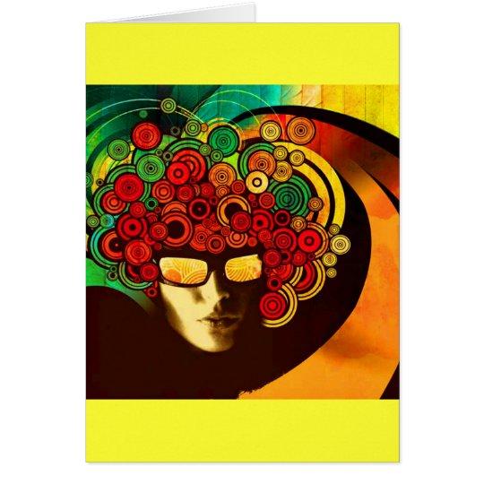 psychedelic pop art card