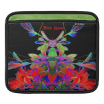 Psychedelic Pop Art Floral Face Abstract Designer iPad Sleeves