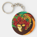 psychedelic pop art key chain
