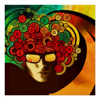 psychedelic pop art poster FROM 8.99