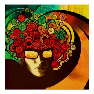 psychedelic pop art poster FROM 8.99 print