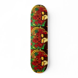 psychedelic pop art skateboard   skateboard