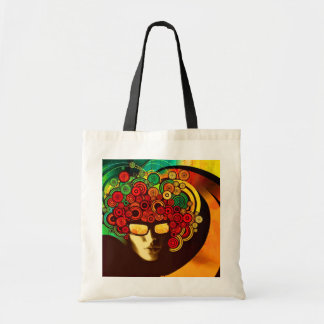 psychedelic pop art tote bag