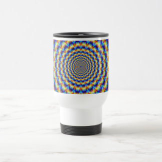Psychedelic Pulse in Blue and Yellow  Mug