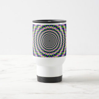 Psychedelic Pulse in Purple and Green  Mug