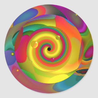 Psychedelic Punch Classic Round Sticker