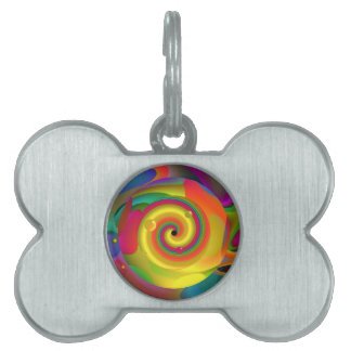 Psychedelic Punch Pet Name Tag