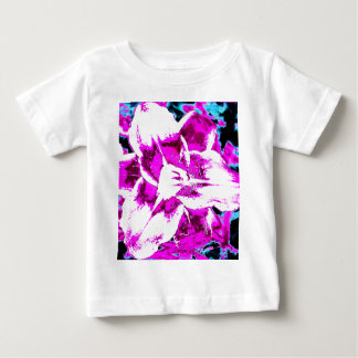 Psychedelic Purple and Blue Flower Baby T-Shirt