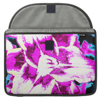 Psychedelic Purple and Blue Flower MacBook Pro Sleeve