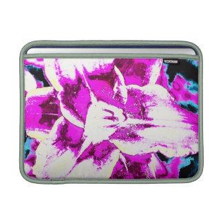 Psychedelic Purple and Blue Flower MacBook Sleeve