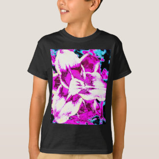 Psychedelic Purple and Blue Flower T-Shirt