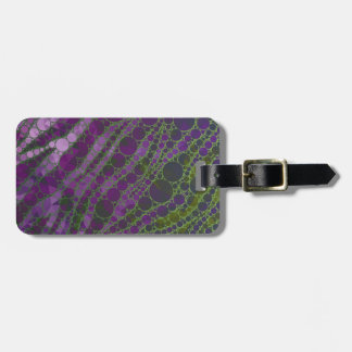 Psychedelic Purple Green Zebra Bag Tag