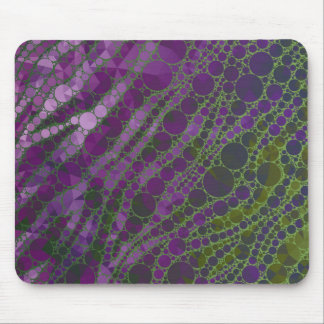 Psychedelic Purple Green Zebra Mouse Pad