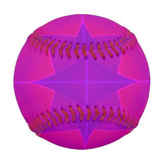 Psychedelic Purple Orange Artwork Baseball