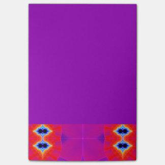 Psychedelic Purple Orange Artwork Post-it® Notes