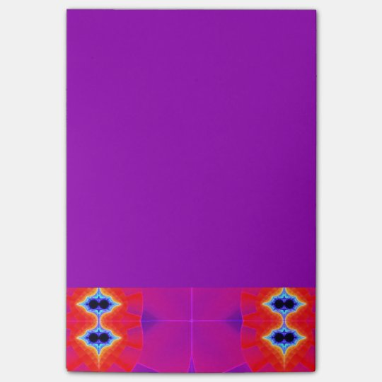 Psychedelic Purple Orange Artwork Post-it® Notes | Zazzle