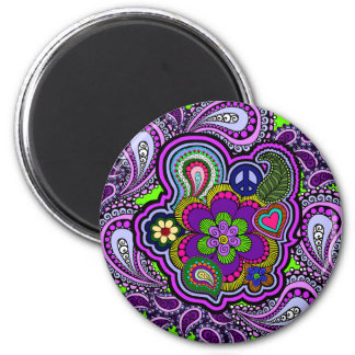 Psychedelic Purple Paisley Magnet