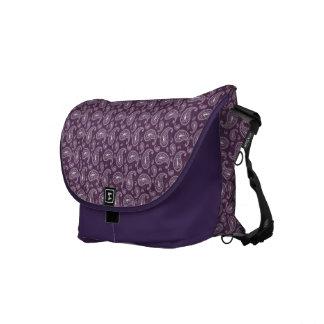 Psychedelic Purple Paisley Messenger Bag