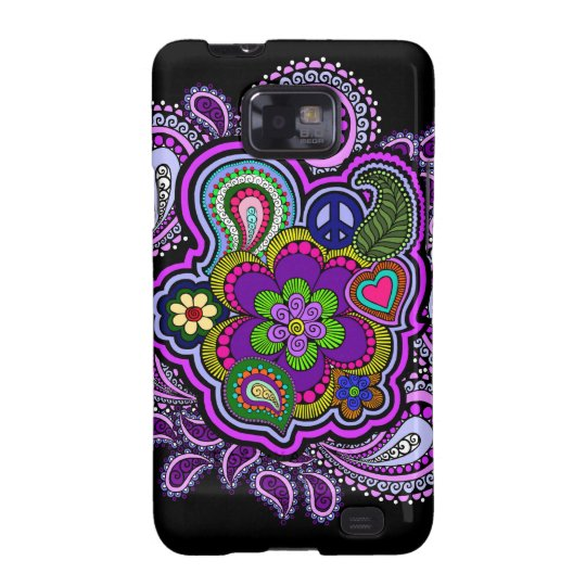 Psychedelic Purple Paisley Phone Case