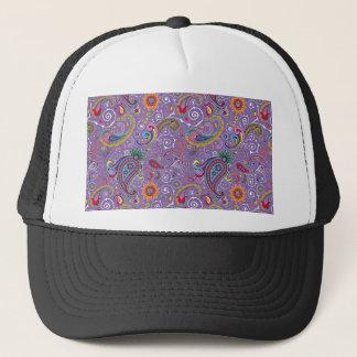 Psychedelic Purple Paisley Trucker Hat
