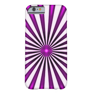 Psychedelic Purple Pinwheel Barely There iPhone 6 Case