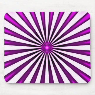 Psychedelic Purple Pinwheel Stripes Pattern Mouse Pad