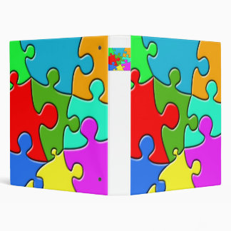 Psychedelic Puzzle 3 Ring Binder