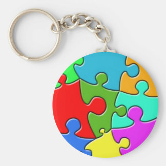 Psychedelic Puzzle Keychain