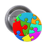 Psychedelic Puzzle Pin
